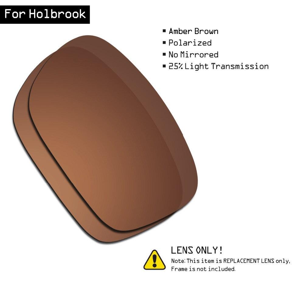 SmartVLT Polarized Sunglasses Replacement Lenses For Oakley Holbrook - Amber Brown