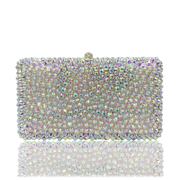 DAIWEI Luxury evening bag Crystal women party purse bags Ladies wedding bridal formal clutch bags banquet bag Day Clutches BL127