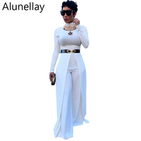 Alunellay Bodysuit women Jumpsuits Rompers cropped Wide Leg Long Pant Female Vintage Style Casual Overalls Off White Black Red