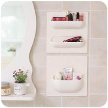 LanLan Home Shelf Bathroom Toothbrush Wall Shelf Mount Holder Kitchen Bathroom Shelf Organizer Rack Bathroom Accessories(China)