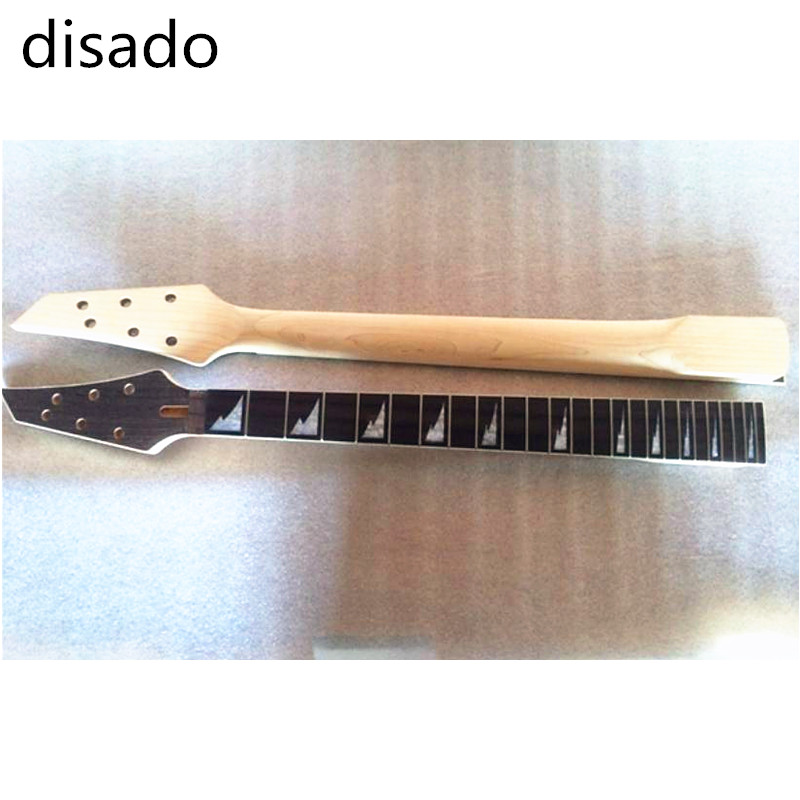 disado 24 Frets Maple Electric Guitar Neck rosewood fingerboard Guitar Parts accessories black color 24 frets holt on one electric guitar neck mahogany wood and rosewood fingerboard 171