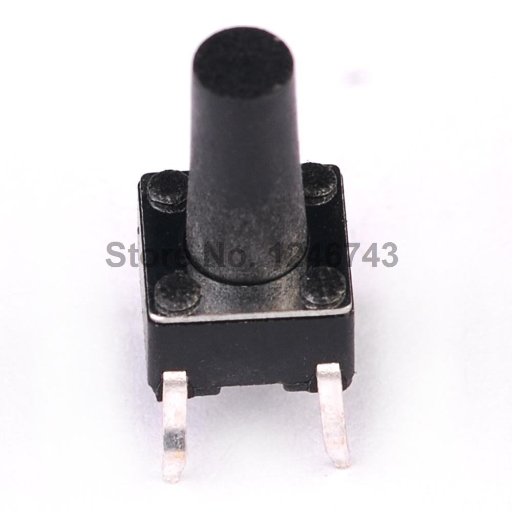 50PCS/LOT 6X6X11 DIP Tactile Tact Mini Push Button Switch Micro Switch Momentary 6*6*11mm 4Pins
