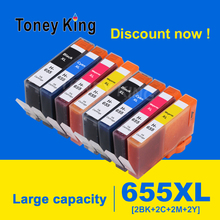 2 Set Compatible For HP 655 For HP655 C M Y BK Ink Cartridge with chip For HP Deskjet 3525 4615 4625 5525 6520 6525 6625 Printer