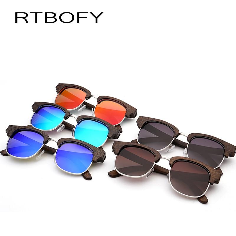ec7052002d RTBOFY New fashion Sunglasses Men Glass Bamboo Sunglasses Polarized  sunglasses au Retro Vintage Wood Lens Wooden Frame B5612-in Sunglasses from  Apparel ...