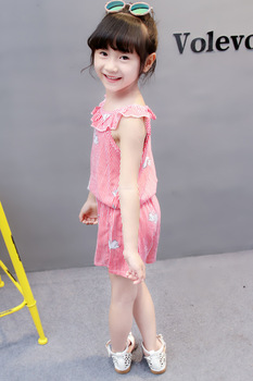 (4 sets/lot) New 2018 Summer Girls' Clothing Sets Striped T-shirt & Shorts Baby Girl 2 PCs Set  8042615 2