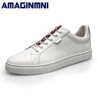 AMAGINMNI 2018 New Arrival Spring Summer Comfortable Casual Shoes Mens Lace Up Brand Fashion Breathable Flat