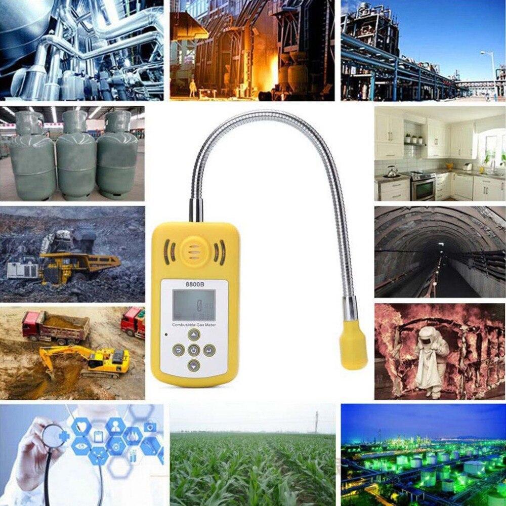 Analyseur de gaz Portable détecteur de gaz Combustible emplacement de fuite de gaz déterminer testeur avec écran LCD alarme de lumière sonore