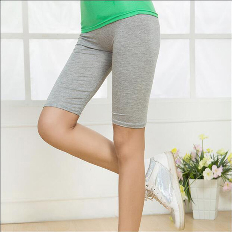 Hot Summer Thin Knee Length   Leggings   Female Modal Cotton   Leggings   Women Fashion Leggins Sporting Women Fitness 75Z