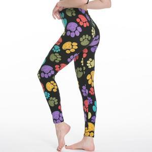 Image 3 - 女性のレギンススリムデジタル印刷幾何学ストライプ新レギンス春夏大サイズファッション女性