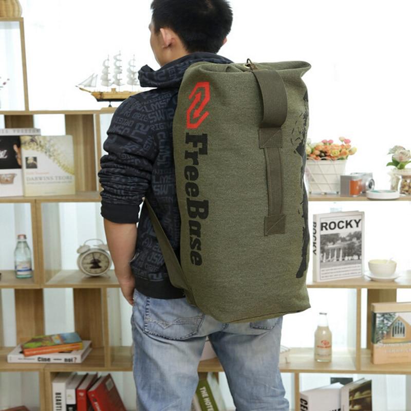 3 boje nove modne platnene pantalone casual torba muški vojni ruksak - Ruksaci - Foto 3