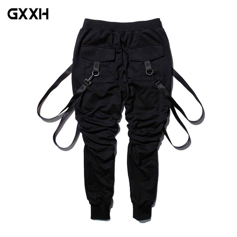 Pantalon Harlan explosif homme ruban pantalon européen et américain Bundle pantalon de garde pantalon Hip Hop homme vetement de travail homme taille XXL