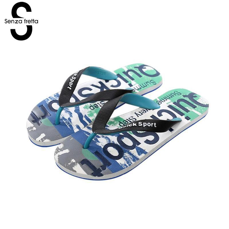 Senza Fretta Summer Camouflage Men Slippers Flip Flops Fashion Outdoor Casual Men Flip-flops Slippers Beach Graffiti Men Shoes senza fretta men shoes flip flops beach sandals casual summer eva slippers shoes men casual non slip sandals flip flops shoes