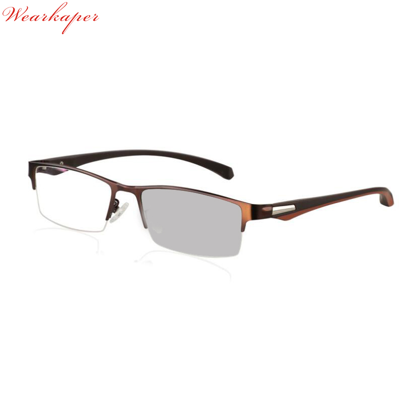 b22c7e88a1 WEARKAPER aleación de titanio medio Marco de transición de gafas de lectura  fotocrómicas gafas flexibles patillas patas macho presbicia -  www.salleram.ga