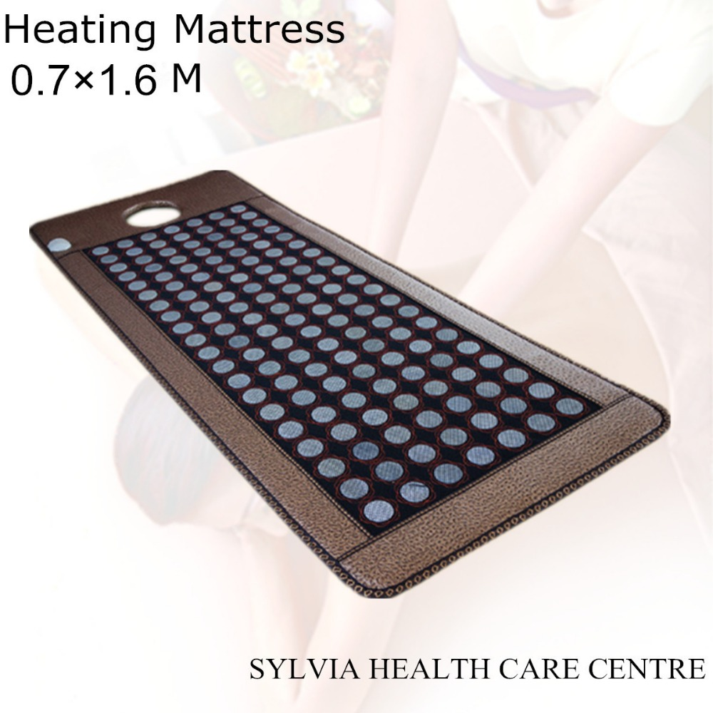2019 Electric Heating Massage Mattress jade Stone Mattress beauty Mattress Therapy spa,Tourmaline Mat For Sale 0.7X1.6M