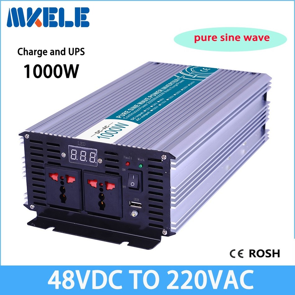 MKP1000-482-C 48vdc to 220vac 1000w  inverter power Pure Sine Wave solar inverter voltage converter with charger p2000 482 c inverter 48vdc to 220vac 2000w solar inverter pure sine wave voltage converter with charger and
