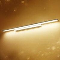 Led Vanity Lights 40/60/80/100/120cm Warm/White Light Bathroom Mirror Wall Lighting Hotel Bedroom Wall Sconce Free Shipping