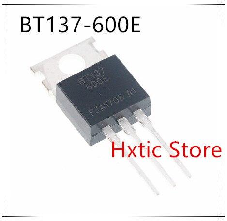 10 pcs BT137-600E TO220 BT137-600 OM-220 BT137 137-600 137-600E Triacs gevoelige gate 8A/600 V nieuwe en originele