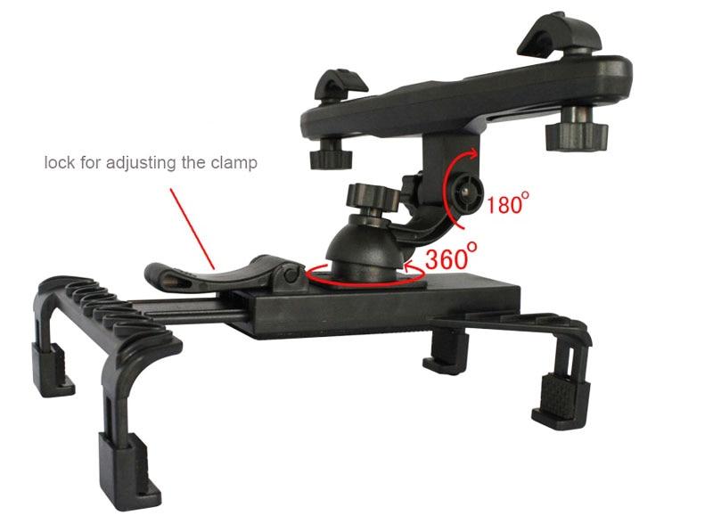 Kafalık Arka Koltuk Cam Emme Tablet GPS Araç Sahipleri Standları - Cep Telefonu Yedek Parça ve Aksesuarları - Fotoğraf 3