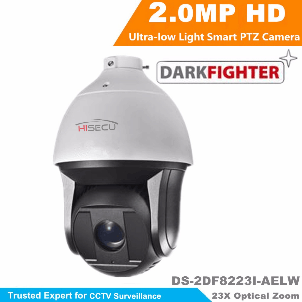 Hikvision 2MP Ultra-low Light Smart PTZ Camera DS-2DF8223I-AELW Oudoor 23X Optical Zoom IR 200m Dome Darkfighter Camera hikvision ds 2df8223i ael english version 2mp ultra low light smart ptz camera ultra low illumination dark fighter
