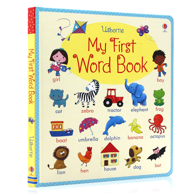 Usborne English picture book board book My first word book ...
