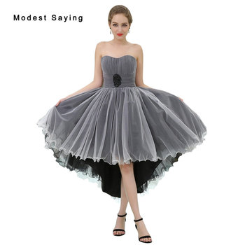 Sexy White and Black High Low Short Pleated Cocktail Dresses 2018 Girls Knee Length Homecoming Prom Gowns vestidos de coctel