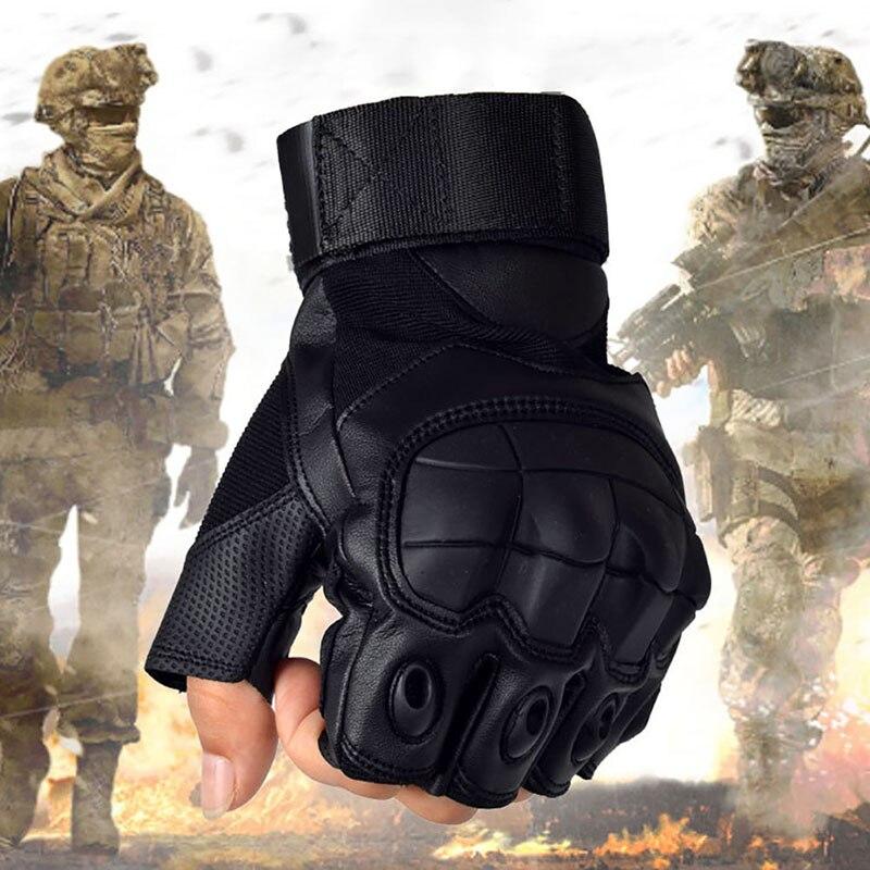 Outdoor Anti-Skid Taktik Military Shell Halbe Finger Handschuhe Paintball Schießen Airsoft Kampf Gummi Knuckle Tactical Handschuhe H5
