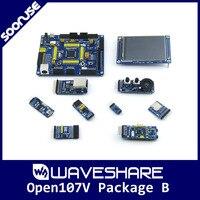 Waveshare Open107V Pack B STM32F107VCT6 STM32F107 ARM Cortex M3 STM32 Development Board + 8 Modules