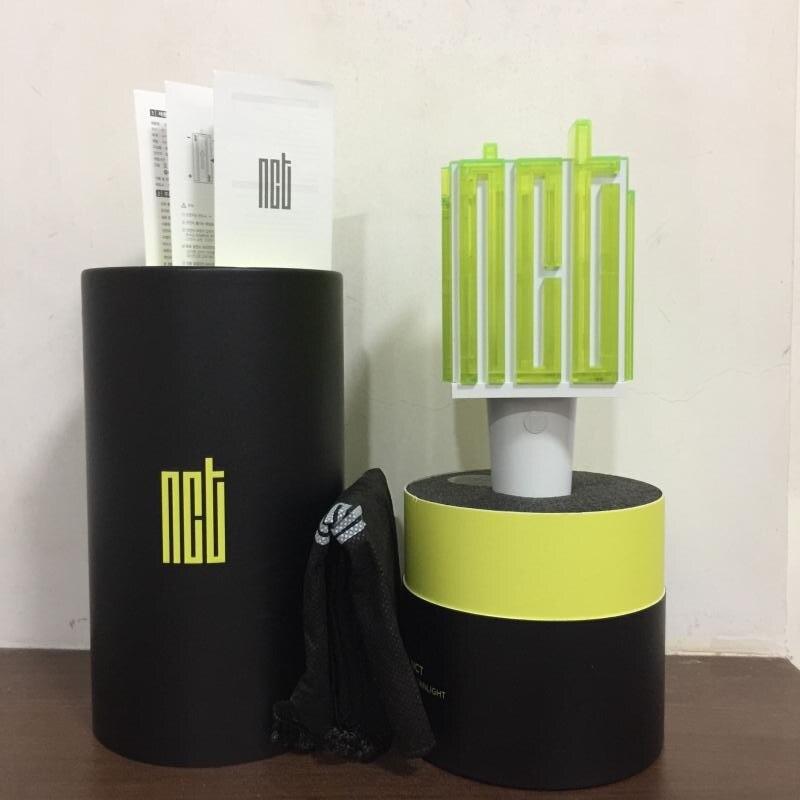 En stock LED NCT Kpop Bâton Lampe Hiphop Lightstick 2018 Nouveau Concert Officiel Lampe fluorescent bâton aide tige Officielles