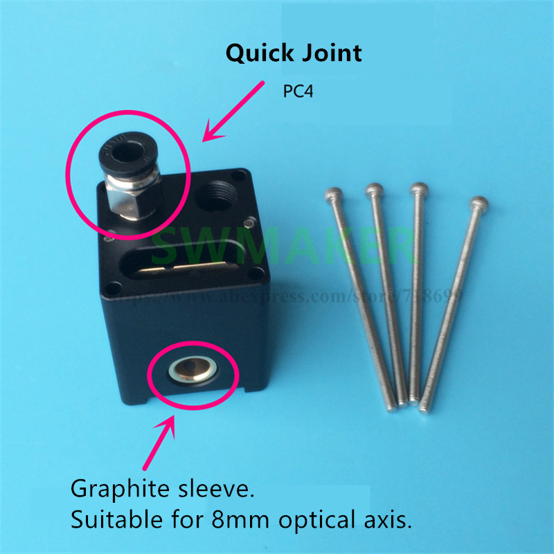SWMAKER 3D printer spare parts Aluminum Alloy X/Y axis cross slider for UM2 + extruder utimaker 3D printer