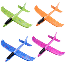 1PC 37CM Kids Outdoor Fun  Party Game Toys Hand Throw Flying Glider Planes Foam Aircraft Model EPP Resistant Breakout