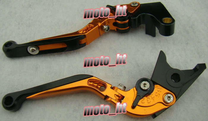 Foldable Brake Clutch Levers For YAMAHA 2002 2003 YZF R1 & 1999-2004 YZF R6 & 2001-2005 FZ1 Orange short clutch brake levers for yamaha yzf r6 1999 2004 cnc 2000 2001 2002 2003 blue adjustable 10 colors