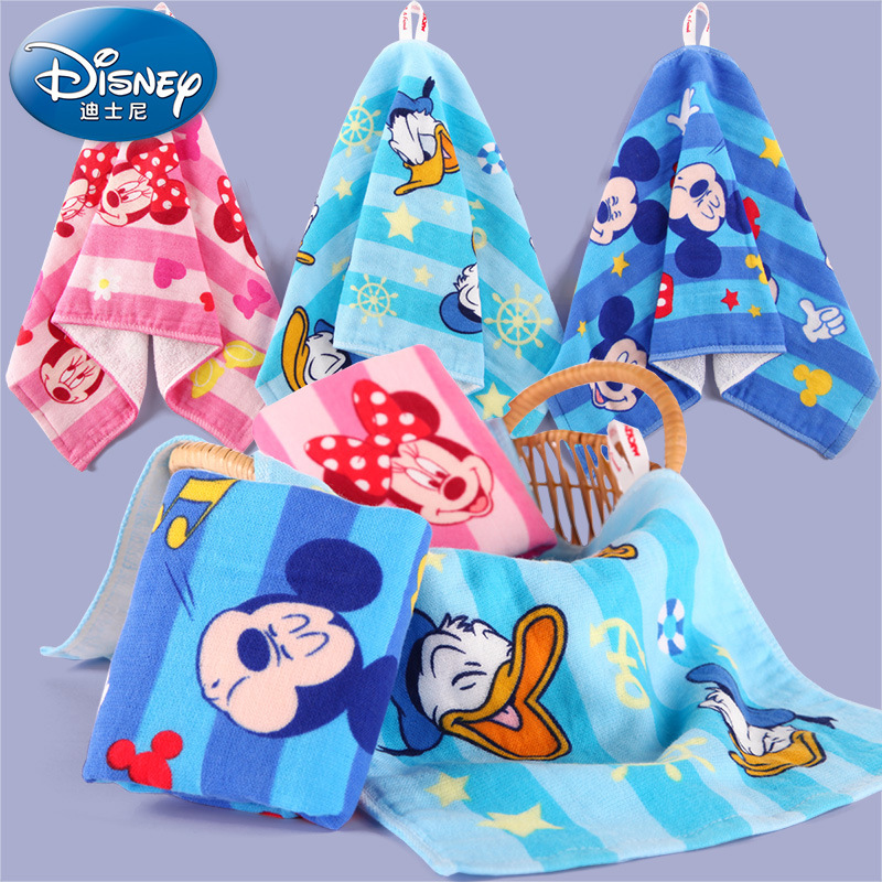 Disney Candy Color Princess Printed Cotton Rectangle Gauze Face Towel Newborn Baby Cartoon Hand Bathing Bibs Towels Handkerchief ...