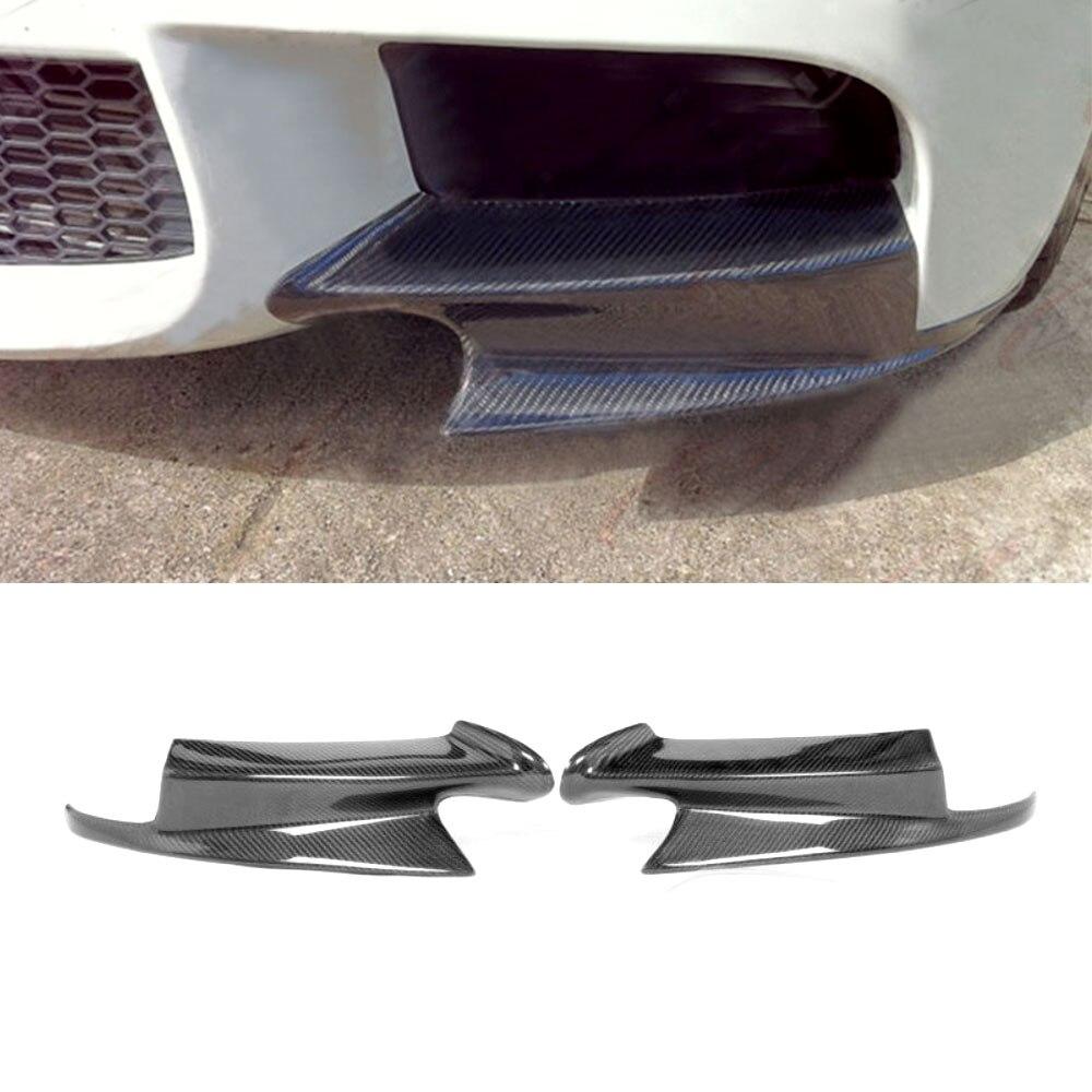 Carbon Fiber Car Front Bumper Splitters Apron spoiler For BMW 3 Series E90 E92 E93 M3 2008-2014 g t style carbon fiber front lip spoiler fit for bmw e90 e92 e93 m3
