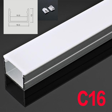 C16 5 комплектов 50 см u образный светодиодный алюминиевый канал с диффузной крышкой торцевые колпачки алюминиевый профиль для гибкого светодиодный светильник