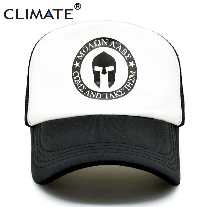 CLIMATE Spartacus   Cap   Trucker   Baseball     Caps   Sparta Molon Labe   Caps   Spartacus Summer   Cap   Hip Hop Mesh Cool Hat for Men Women