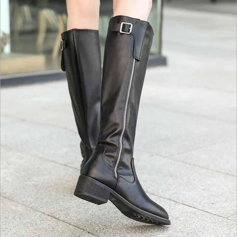 Rodilla De Elástico Mujeres Las Tacón Tamaño Zapatos Pezuña Mujer Invierno Con Botas Sexy Altas Negro La Encima Punta 2019 Por wcYIRqZR