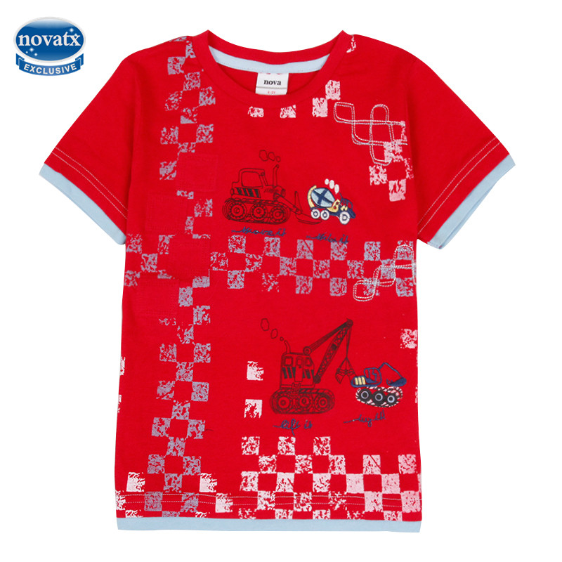 Retail 2016 nova summer new cartoon children t shirts boys for Personalized t shirts for kids cheap