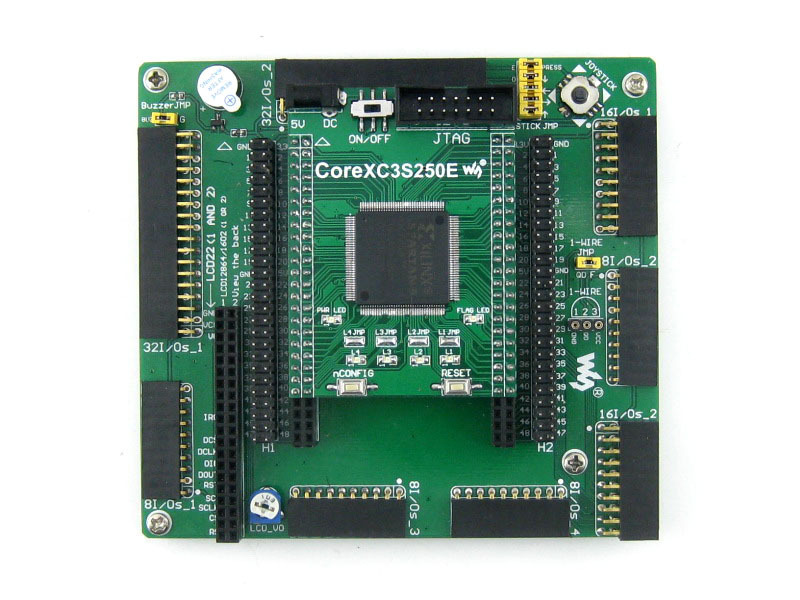 XILINX FPGA Development Board Xilinx Spartan-3E XC3S250E Evaluation Kit+ XC3S250E Core Kit = Open3S250E Standard from Waveshare open3s500e package a xc3s500e xilinx spartan 3e fpga development evaluation board 10 accessory modules kits