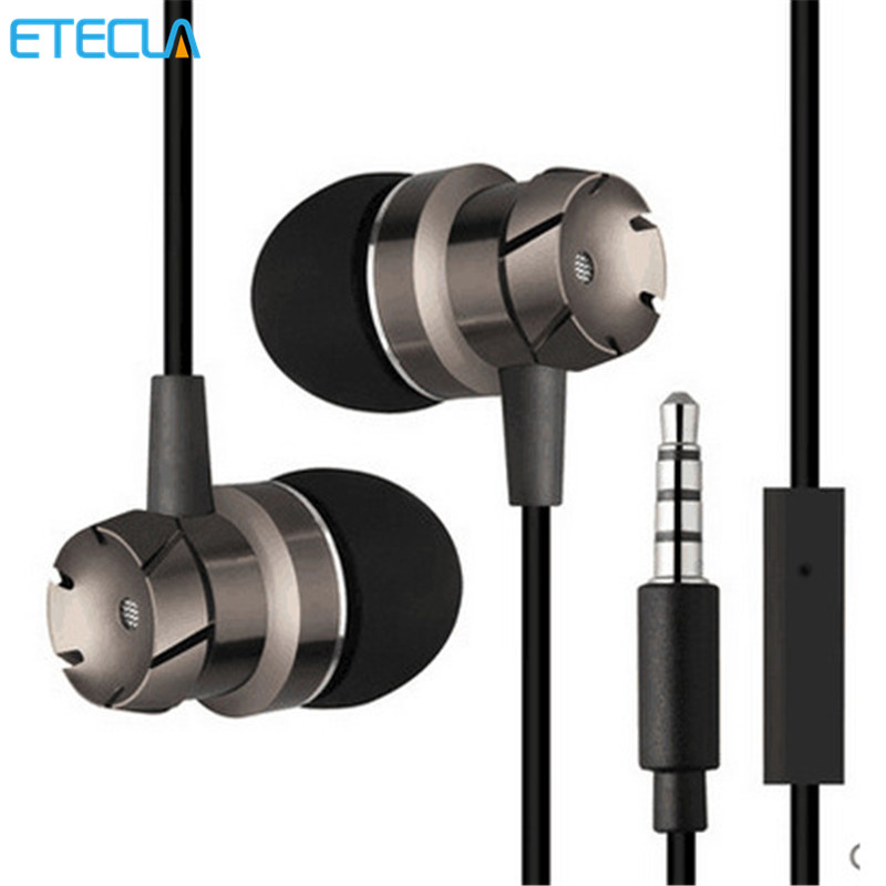 In Ear Earphone Mini Metal Sport Stereo Music 3.5mm Jack Laptop Dj Bicycle Hifi Head Phone For Samsung Iphone Huawei Mp3 Phone