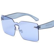 Oversize Square Caramelo Color Claro Gradiente Gafas de Sol de Las Mujeres Los Hombres de Una Sola Pieza Superior Plana Gafas de Sol Gafas De Sol Mujer