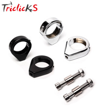 Triclicks Chrome Black Turn Signal Mount Bracket 39mm 41mm 49mm Fork Relocation Clamp Indicator CNC Mounting Brackets For Harley