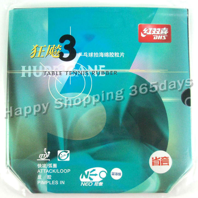 Blue Sponge Version DHS NEO Provincial Hurricane3 Hurricane 3 Black Pips-In Table Tennis Rubber With Sponge donic desto f3 f 3 f 3 pips in table tennis pingpong rubber with sponge