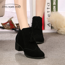 Women winter boots Genuine cow suede Leather Ankle flats Comfortable quality soft Shoes Brand Designer Handmade 2019 with fur