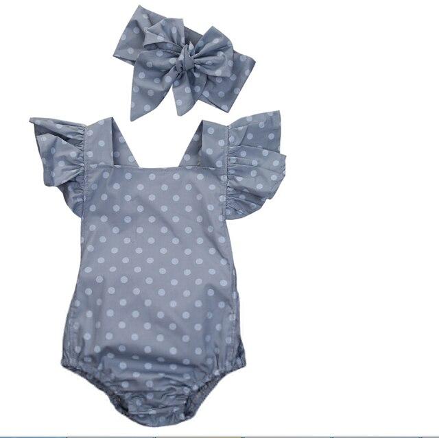 Bebê recém nascido Meninas Roupas Polka Dot Bebê menina ...