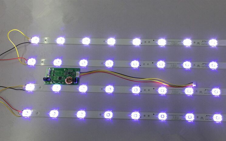 12pcs X 32 Inch LED TV Backlight Strips 4708-K320WD-A2213K01 For 32'' TCL LE32D59 & For Philips 32PFL3045 8-LEDs 618mm