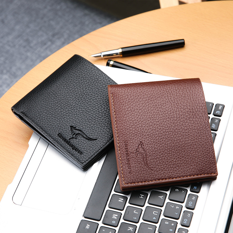 2018 Men Wallet Leather Clutch Bags Coin Pure Card Holders Luxury Male Slim Wallet Solid Male Portfolio Classic Black Billetera