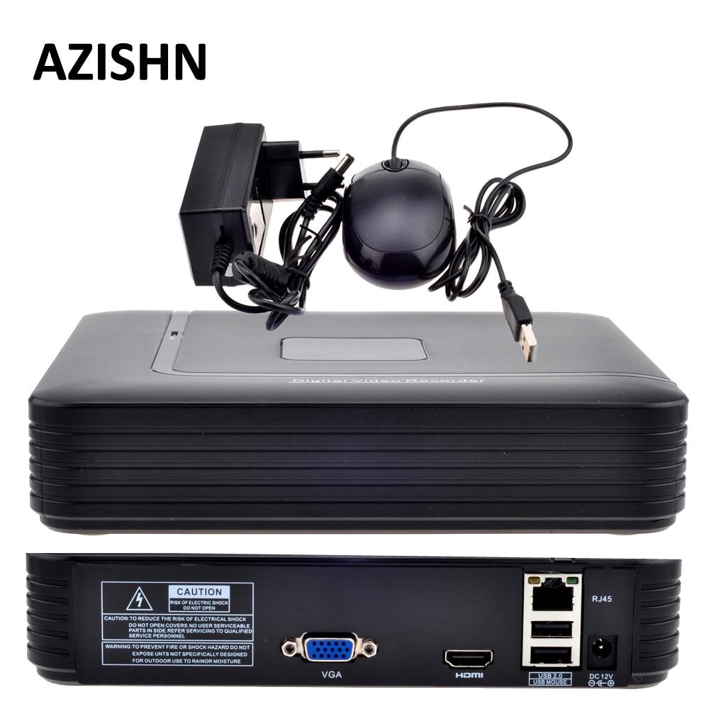 Mini NVR Full HD 4CH 8CH Sicurezza CCTV NVR 1080 P ONVIF 2.0 Per Sistema di Telecamere ip 1080 P Con Radiatore di Sorveglianza sistema
