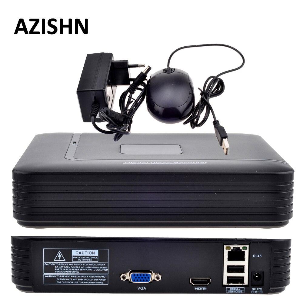 Mini NVR Full HD 4CH 8CH seguridad CCTV NVR 1080 p ONVIF 2,0 para sistema de cámara IP 1080 p con sistema de vigilancia del radiador