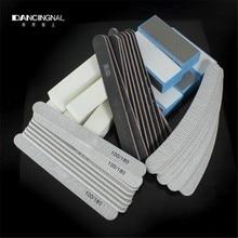 1Set New 40PCS Nail Art Tools Sanding Files Buffer Block Manicure Pedicure Tools Sand Paper Foam UV Gel Nail File