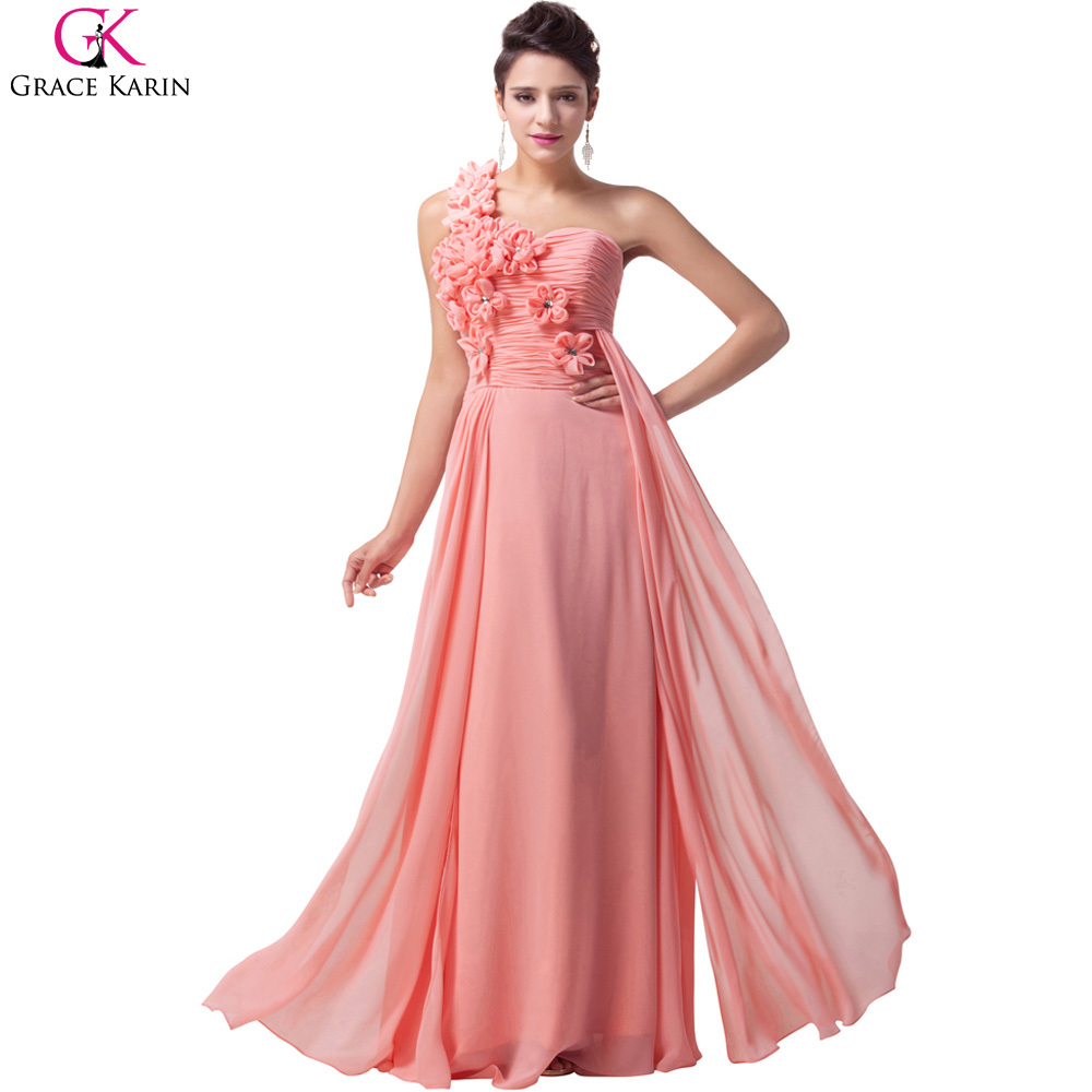 Cheap white pink paleturquoise grace karin long chiffon for Formal dresses for weddings cheap